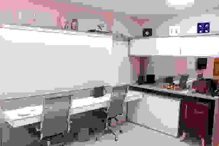 Bancada de trabalho Arquit&thai Escritórios modernos de madeira e plástico Ambar/dourado