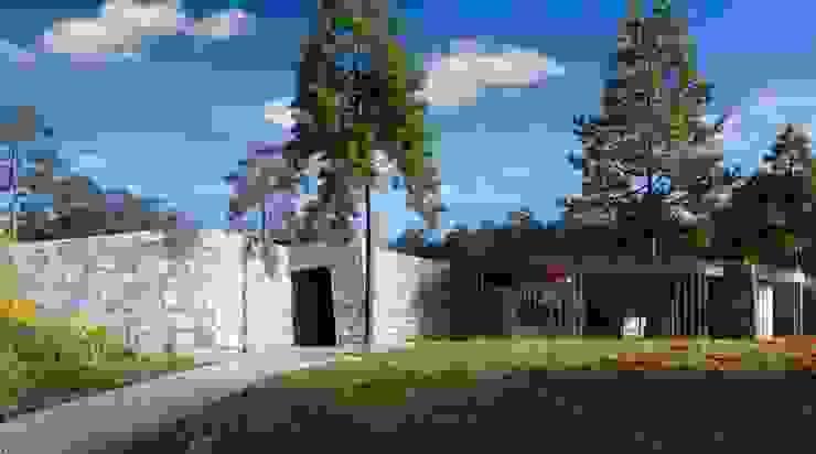 Servicios camping: Bungalows de estilo  de Bau Arquitectura Tarragona,