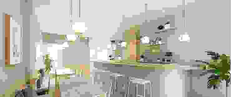操作實例-使用智能測量系統完成北歐風小宅設計案: 斯堪的納維亞  by 知森數位開發有限公司, 北歐風