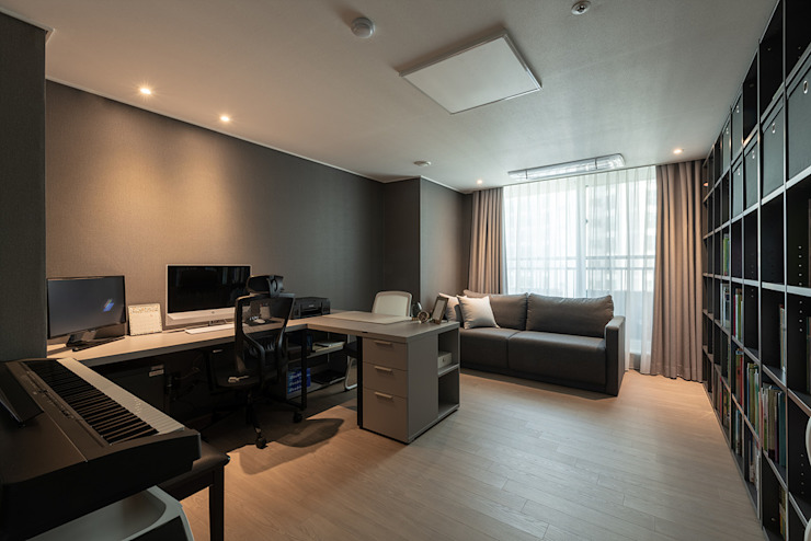 강동구 고덕 아이파크 54py: 림디자인의  서재 & 사무실
