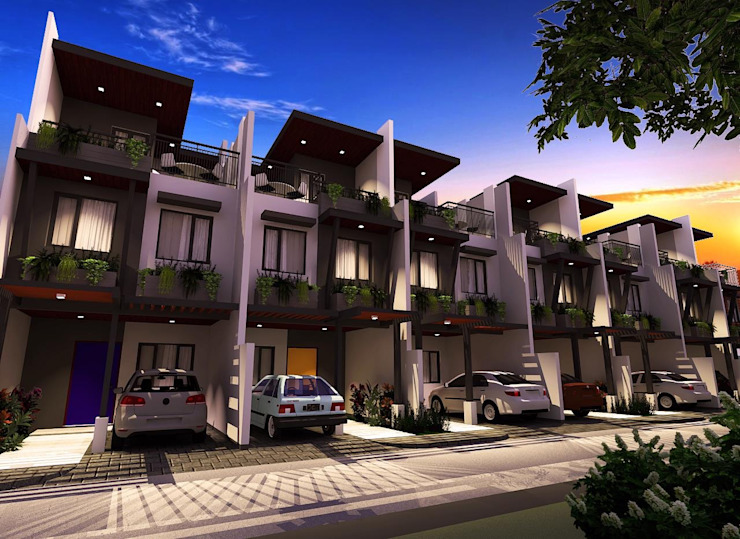7-Unit Townhouse Development Structura Architects Multi-Family house