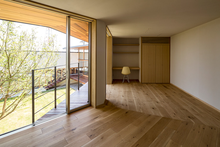 中山大輔建築設計事務所/Nakayama Architects Small bedroom