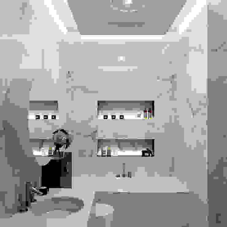 ЖК «River House» Wide Design Group Ванная комната в скандинавском стиле
