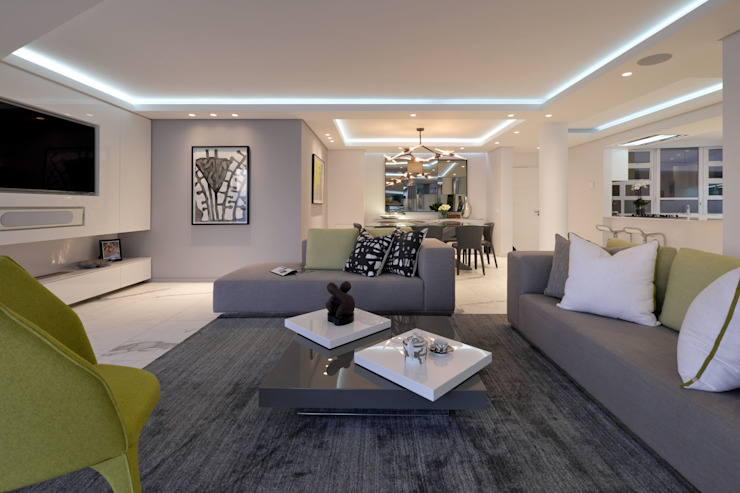 Penthouse The President Bantry Bay Modern living room by KMMA architects Modern
