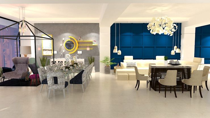 Maayish Architects Living roomAccessories & decoration Blue