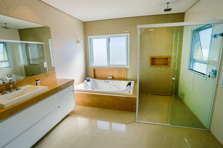 Ванная комната в стиле кантри от Lozí - Projeto e Obra Кантри