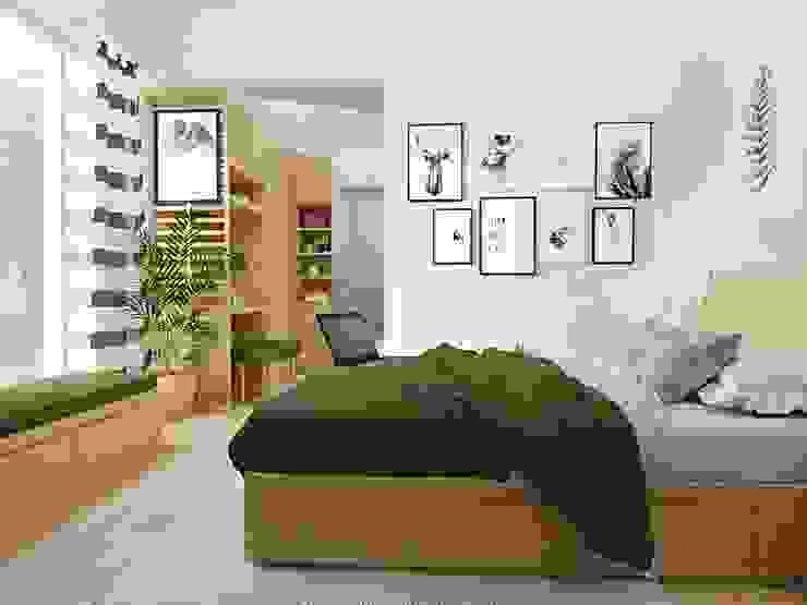 Scandinavian style bedroom by viku Scandinavian Plywood
