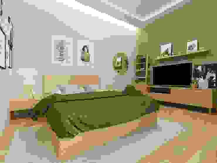 Interior kamar tidur nuansa kayu Kamar Tidur Gaya Skandinavia Oleh viku Skandinavia Kayu Wood effect