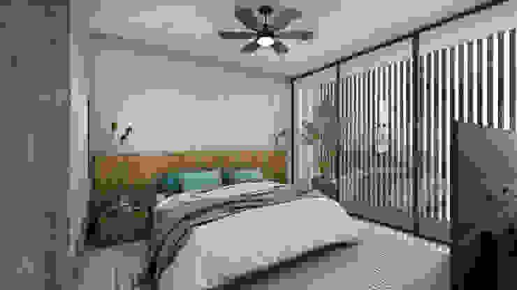 RECÁMARA PRINCIPAL PLAY Urban Studio Dormitorios minimalistas Concreto Blanco