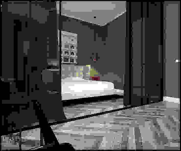 Современная классика в полоску: Маленькие спальни в . Автор – Дизайн интерьера от Юлии Ю., Классический