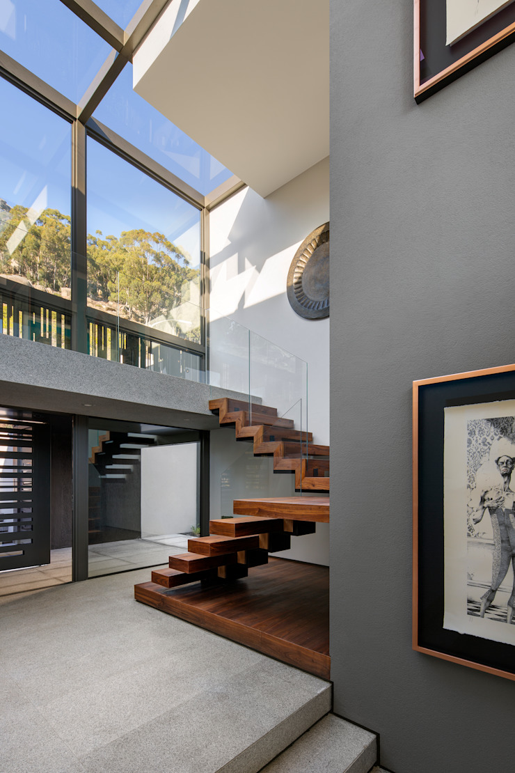 Wright Architects Escalier Bois Marron