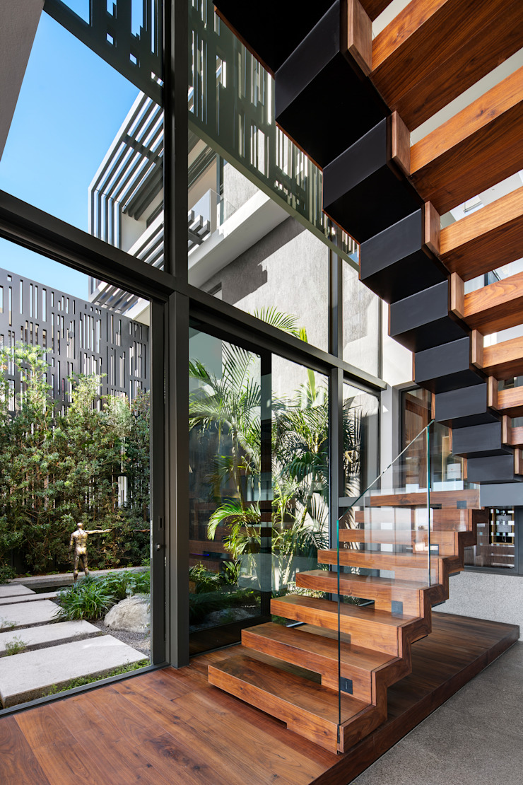 HOUSE SEALION | FRESNAYE Wright Architects 樓梯 木頭 Black