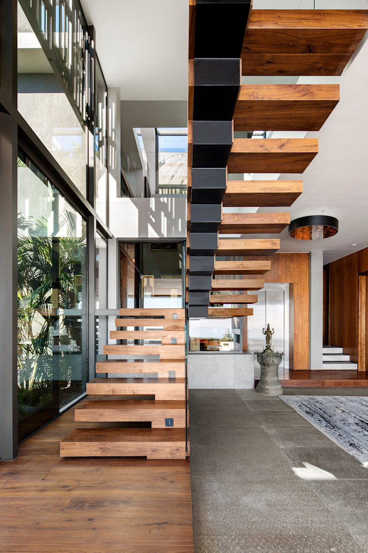 HOUSE SEALION | FRESNAYE Wright Architects Stairs Aluminium/Zinc Black