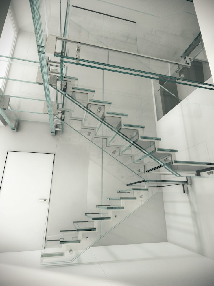 by Siller Treppen/Stairs/Scale Сучасний Скло