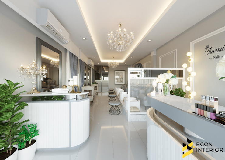ผลงานการออกแบบร้านทำเล็บ: ทันสมัย  โดย Bcon Interior , โมเดิร์น