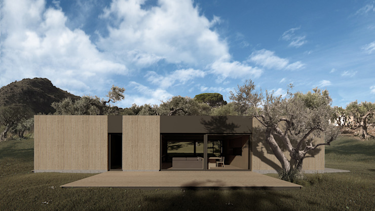 Wooden house by ALESSIO LO BELLO ARCHITETTO a Palermo Country Wood Wood effect