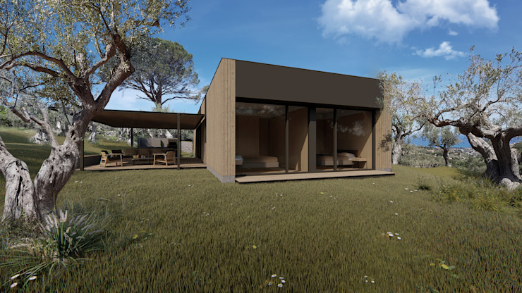 Prefabricated home by homify, Modern Wood Wood effect