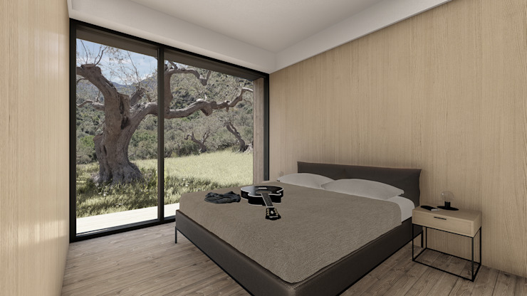 WOODEN HOUSE G|C – SICILY Modern style bedroom by ALESSIO LO BELLO ARCHITETTO a Palermo Modern Wood Wood effect