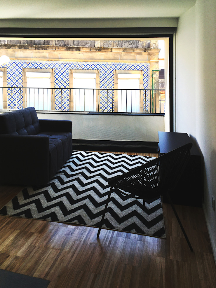 Modern living room by GAAPE - ARQUITECTURA, PLANEAMENTO E ENGENHARIA, LDA Modern