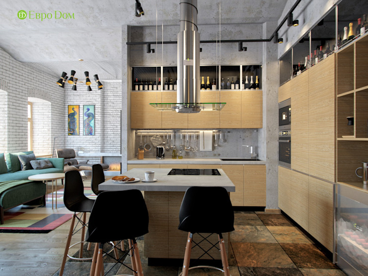Industrial style kitchen by ЕвроДом Industrial