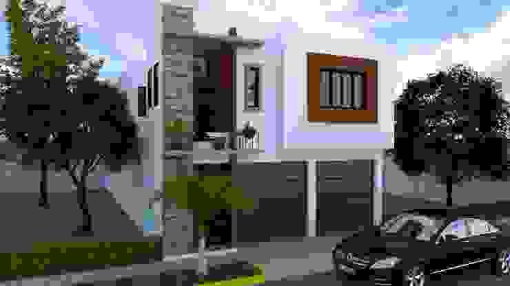 CASA HABITACIÓN MAT: Casas de estilo  por Arquitectura B.A,