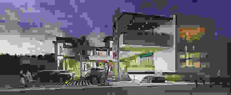 Plaza Comercial Cuernavaca Casas modernas de GRUPO WALL ARQUITECTURA Y DISEÑO SA DE CV Moderno