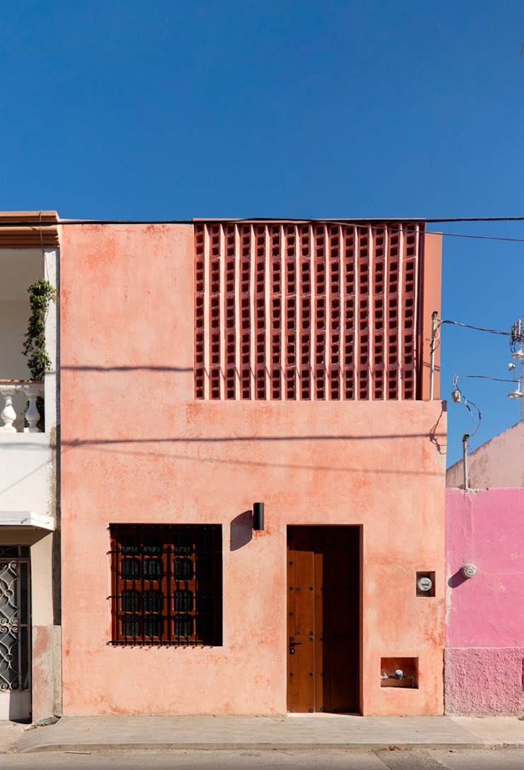 fachada de Taller Estilo Arquitectura Moderno Concreto