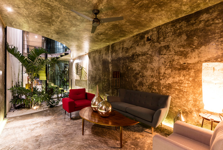 Sala Livings de estilo moderno de Taller Estilo Arquitectura Moderno Concreto