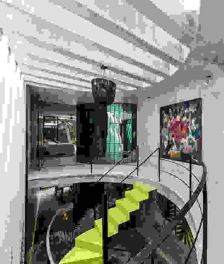 Vista general Pasillos, vestíbulos y escaleras modernos de Taller Estilo Arquitectura Moderno Concreto