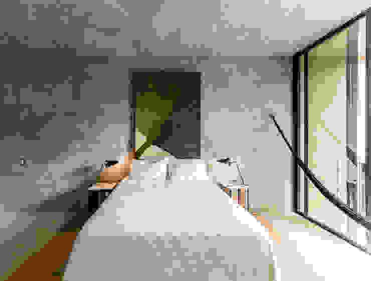 Recamara principal de Taller Estilo Arquitectura Moderno Concreto