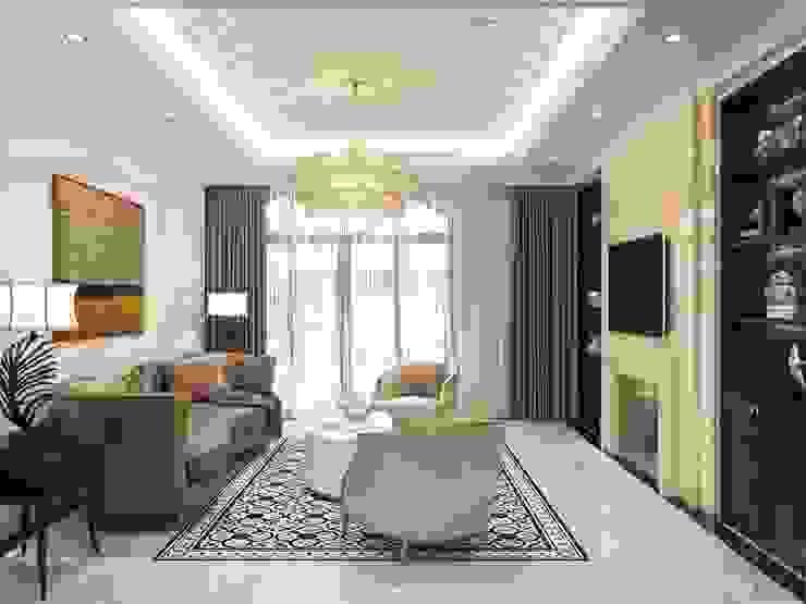 Phong cách Tân cổ điển trong nội thất biệt thự Lavila - ICON INTERIOR Phòng khách phong cách kinh điển bởi ICON INTERIOR Kinh điển