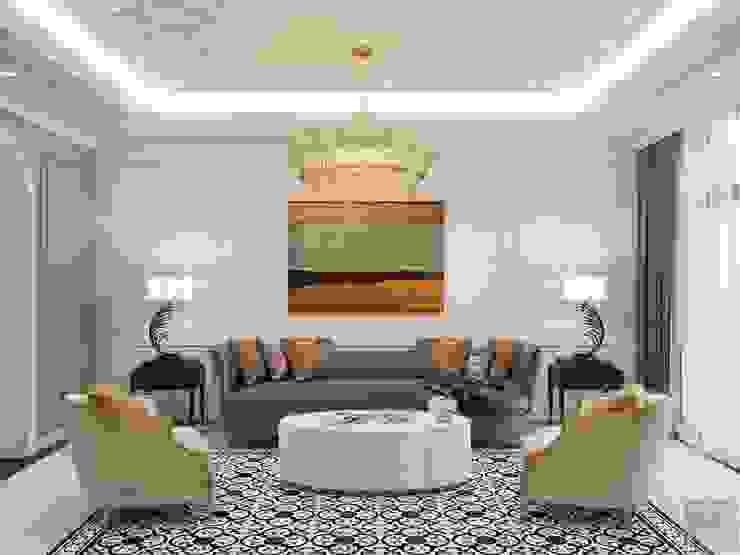 Phong cách Tân cổ điển trong nội thất biệt thự Lavila – ICON INTERIOR Phòng khách phong cách kinh điển bởi ICON INTERIOR Kinh điển