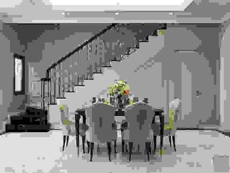 Phong cách Tân cổ điển trong nội thất biệt thự Lavila – ICON INTERIOR Phòng ăn phong cách kinh điển bởi ICON INTERIOR Kinh điển