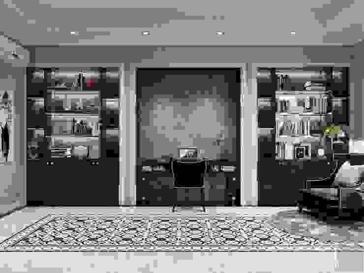 Phong cách Tân cổ điển trong nội thất biệt thự Lavila – ICON INTERIOR Phòng học/văn phòng phong cách kinh điển bởi ICON INTERIOR Kinh điển