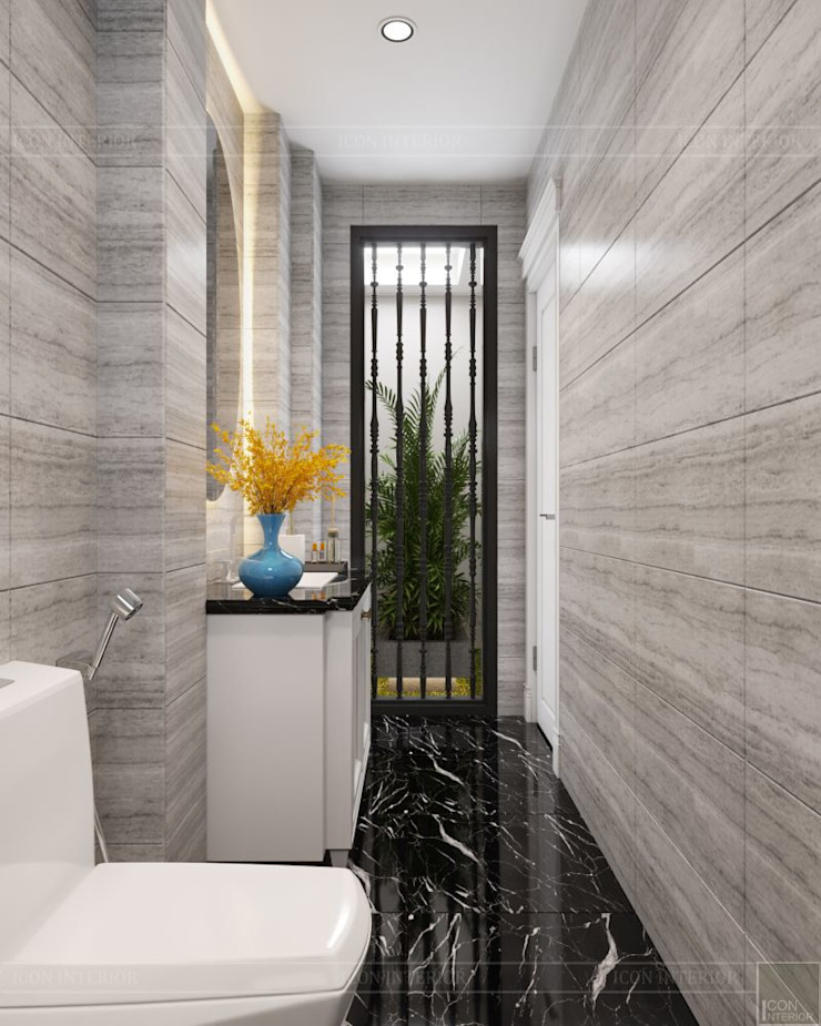 Phong cách Tân cổ điển trong nội thất biệt thự Lavila – ICON INTERIOR Phòng tắm phong cách kinh điển bởi ICON INTERIOR Kinh điển