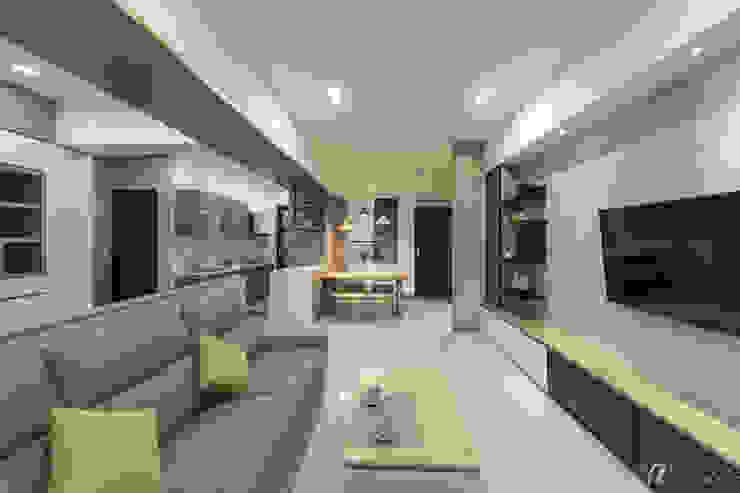 整體範圍 現代廚房設計點子、靈感&圖片 根據 元作空間設計 現代風