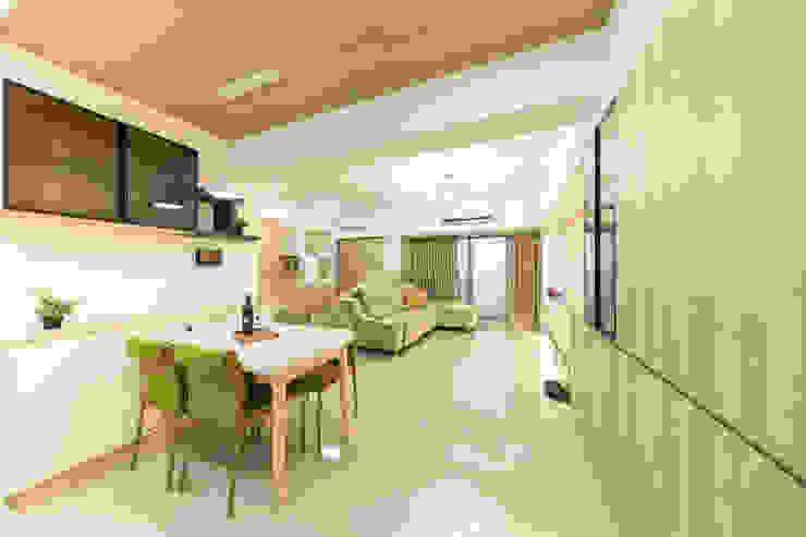 餐廳&客廳 根據 元作空間設計 現代風