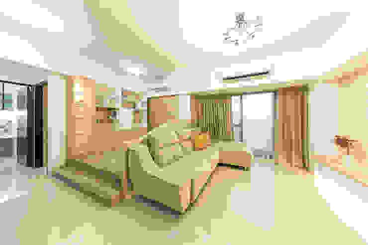 客廳&書房 现代客厅設計點子、靈感 & 圖片 根據 元作空間設計 現代風
