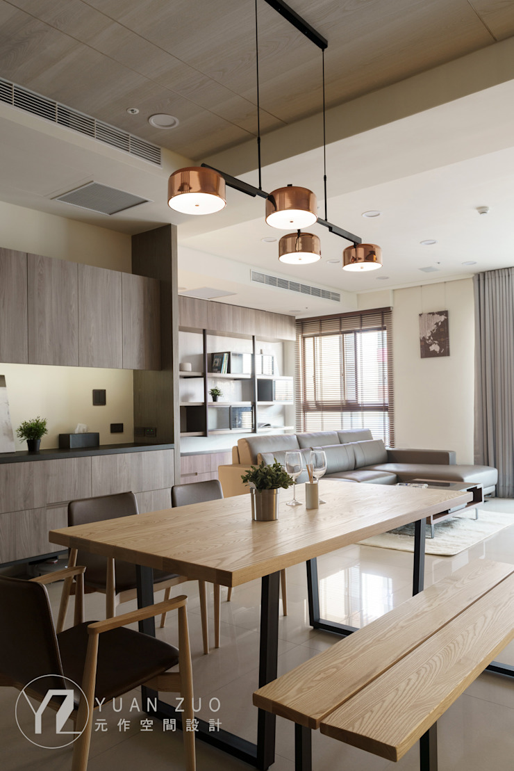 餐廳 根據 元作空間設計 現代風