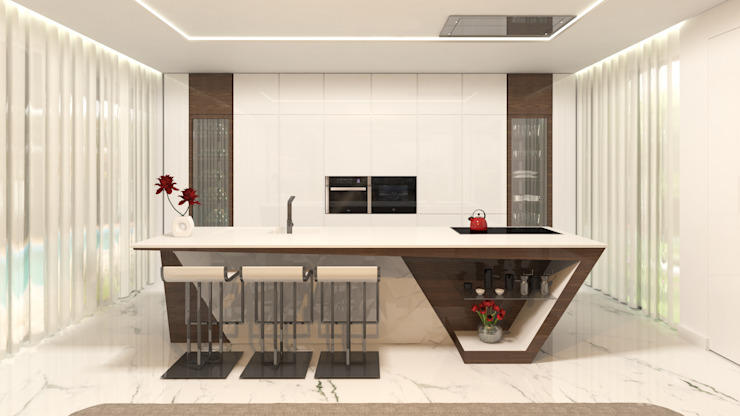 Projecto 3D Cozinha - Moradia - Porto Cozinhas modernas por Alpha Details Moderno