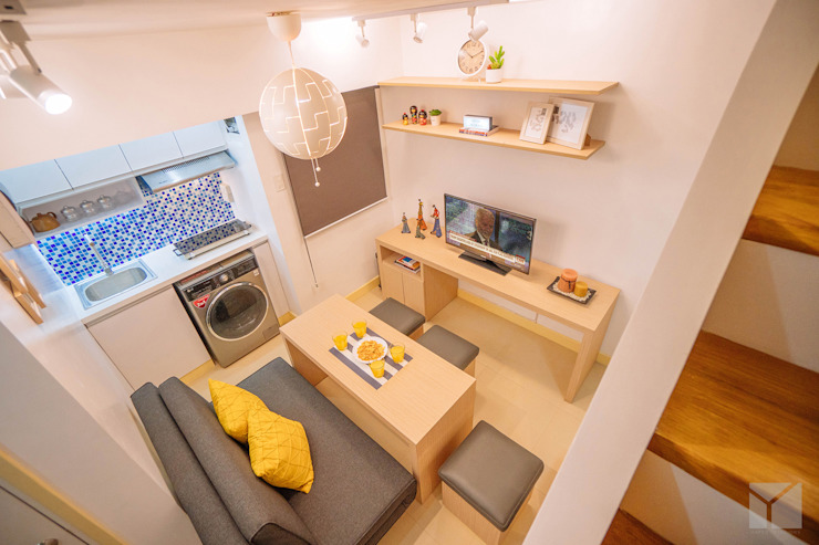 Transforming Small Spaces Minimalist dining room by Hayen Interiors Minimalist
