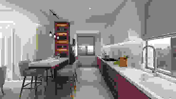 Projecto 3D cozinha, Vila Nova de Gaia Cozinhas modernas por Alpha Details Moderno