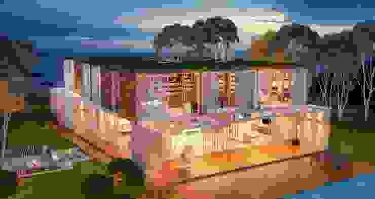 Casas de estilo  por Viviane Cunha Arquitetura