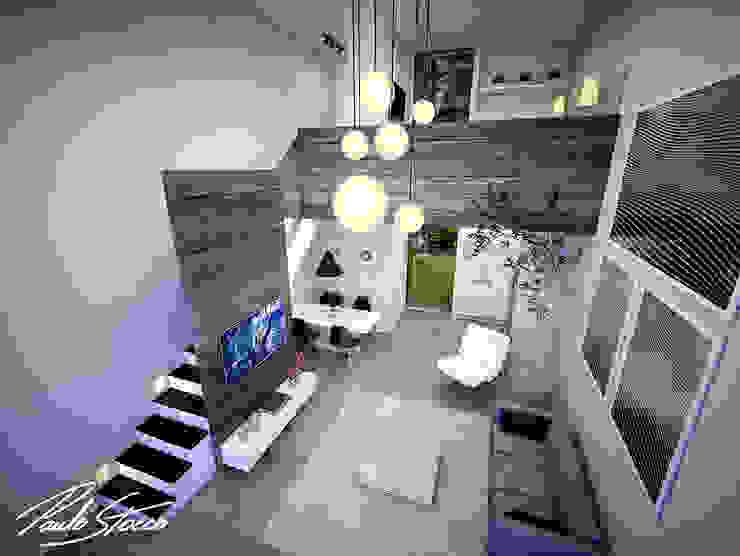 Paulo Stocco Arquiteto Ruang Keluarga Minimalis