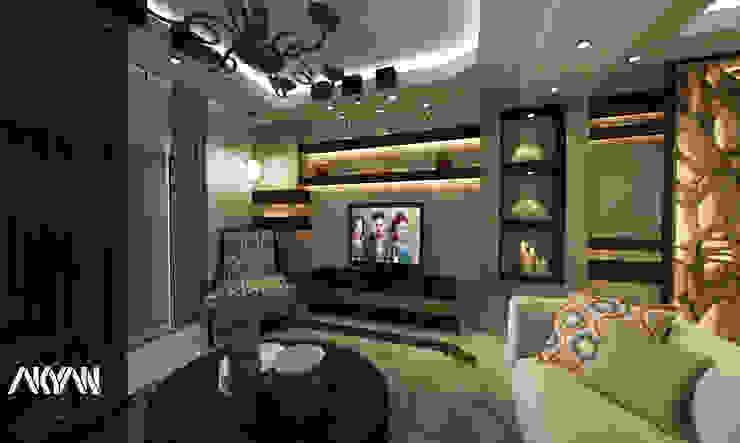 TV WALL DESIGN: حديث  تنفيذ AKYAN SQUARE, حداثي مزيج خشب وبلاستيك