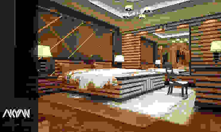 LUXURY MASTER BEDROOM ( BED ZOON : كلاسيكي  تنفيذ AKYAN SQUARE, كلاسيكي خشب Wood effect