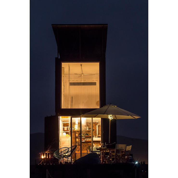 Habitáculo S.O. e-Tower:  de estilo industrial por MRH Arquitectos, Industrial Hierro/Acero