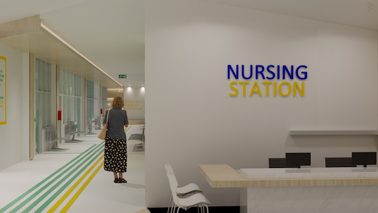 Nursing Station Koridor & Tangga Minimalis Oleh TIES Design & Build Minimalis