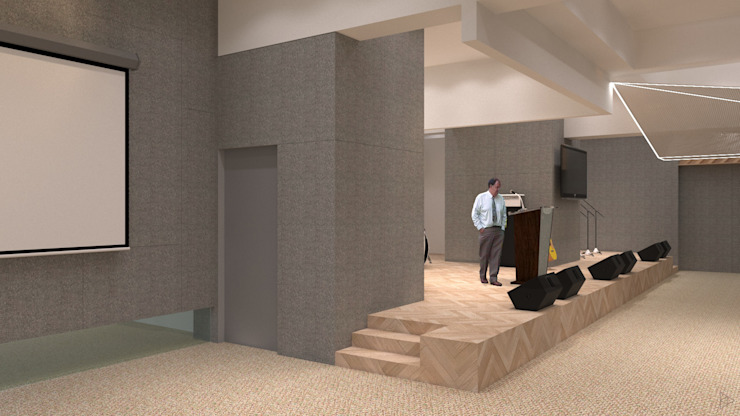 Stage Ruang Media Modern Oleh TIES Design & Build Modern