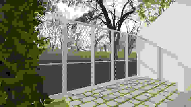 Carport Balkon, Beranda & Teras Minimalis Oleh TIES Design & Build Minimalis
